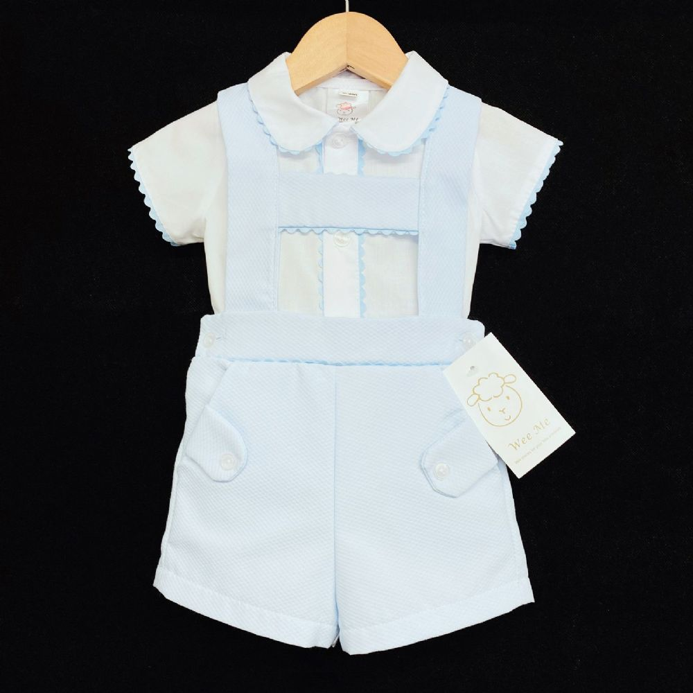 *New Arrival Baby Boy Lovely Spanish Blue Shorts Set